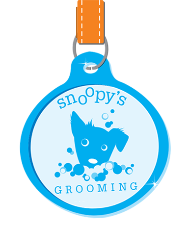 snoopys grooming dog tags